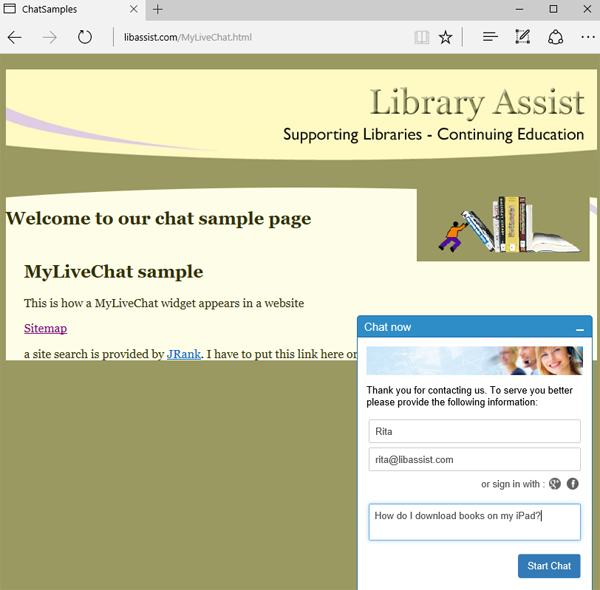 MyLiveChat Window